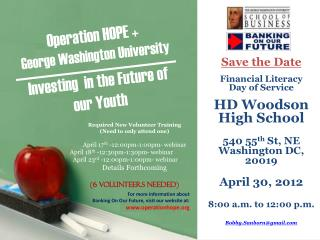 Carver has teamed up with Operation Hope ' s  Bank On Our Future