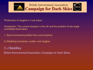 Measuring and Modelling Rural skyglow