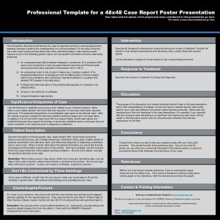 Professional Template for a 48x48 Case Report Poster Presentation