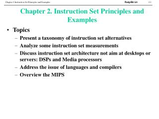 Chapter 2. Instruction Set Principles and Examples