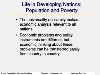 Life in Developing Nations: Population and Poverty