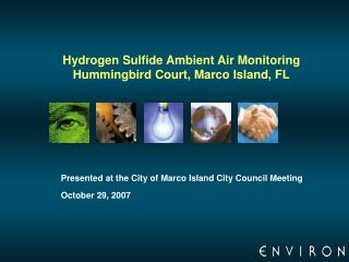 Hydrogen Sulfide Ambient Air Monitoring  Hummingbird Court, Marco Island, FL