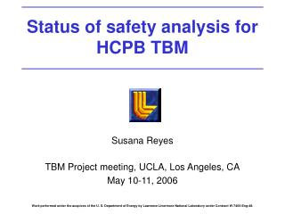 Status of safety analysis for HCPB TBM