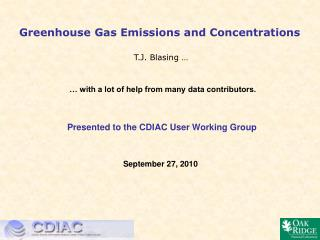 Greenhouse Gas Emissions and Concentrations