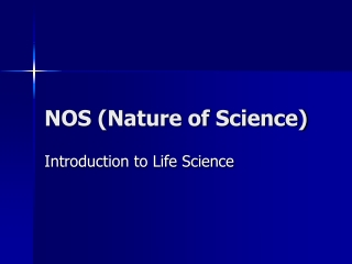 NOS (Nature of Science)