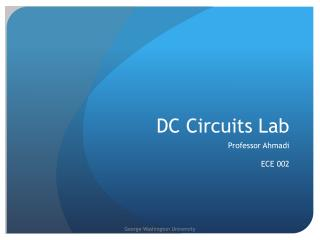 DC Circuits Lab