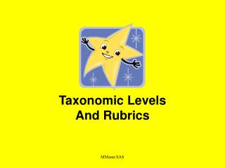Taxonomic Levels And Rubrics