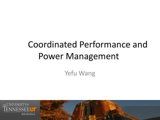 Coordinated Performance and Power Management