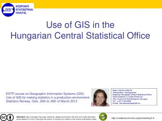 Use of GIS in the  Hungarian Central Statistical Office
