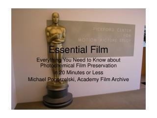 Essential Film