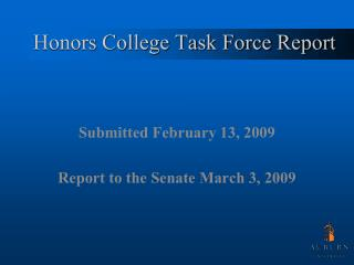 Honors College Task Force Report