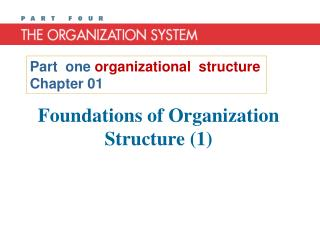 Foundations of Organization Structure (1)