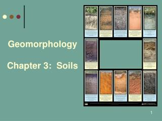Geomorphology Chapter 3:  Soils
