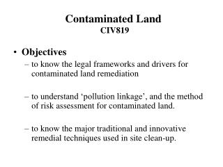 Contaminated Land CIV819