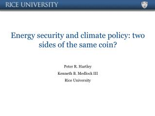 Energy security and climate policy: two sides of the same coin?