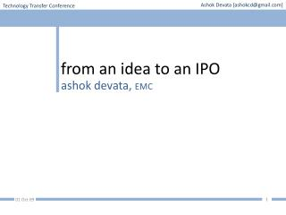 from an idea to an IPO