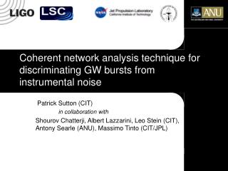 Coherent network analysis technique for discriminating GW bursts from instrumental noise