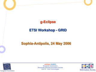 g-Eclipse ETSI Workshop - GRID
