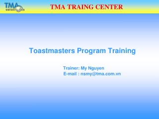 TMA TRAING CENTER