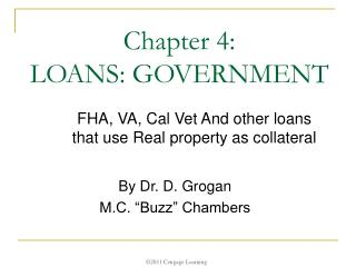 Chapter 4:  LOANS: GOVERNMENT