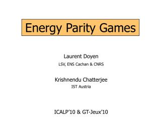 Energy Parity Games