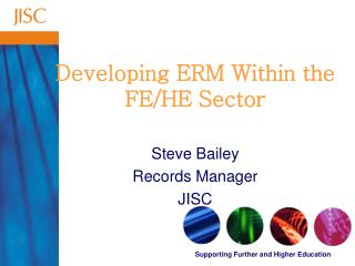Developing ERM Within the FE/HE Sector