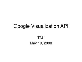 Google Visualization API