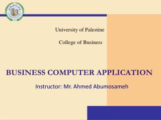 business computer application