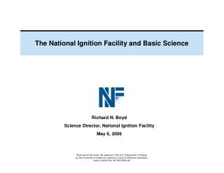 The National Ignition Facility and Basic Science