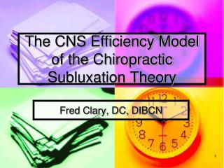 The CNS Efficiency Model of the Chiropractic Subluxation Theory