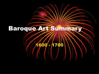 Baroque Art Summary