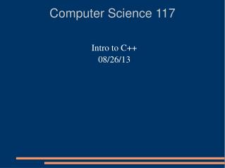 Computer Science 117