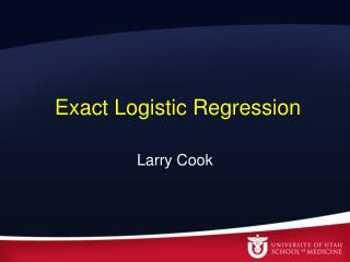 Exact Logistic Regression