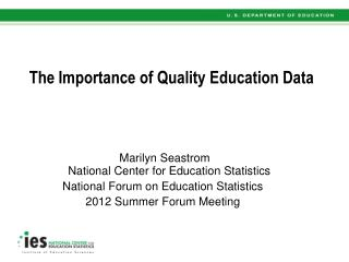 The Importance of Quality Education Data