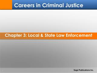 Chapter 3: Local & State Law Enforcement