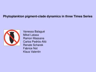 Phytoplankton pigment-clade dynamics in three Times Series