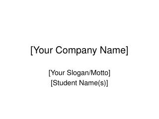 [Your Company Name]