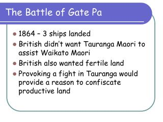 The Battle of Gate Pa