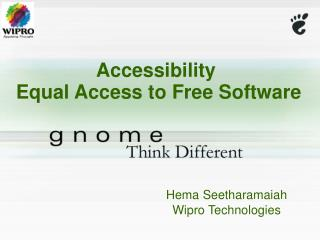 Accessibility  Equal Access to Free Software
