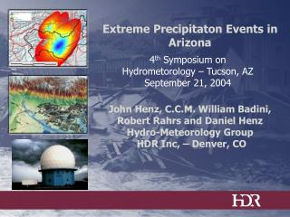 4 th  Symposium on Hydrometorology – Tucson, AZ September 21, 2004
