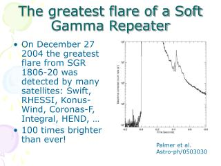 The greatest flare of a Soft Gamma Repeater