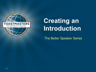 An Introduction to Toastmasters