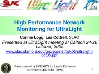 High Performance Network Monitoring for UltraLight