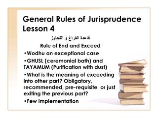 General Rules of Jurisprudence Lesson 4