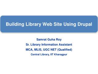 Building Library Web Site Using Drupal