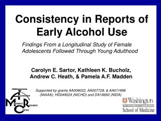 Consistency in Reports of  Early Alcohol Use
