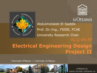 ELG 4913F  Electrical  Engineering Design Project II