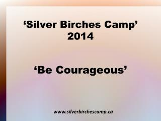 'Silver Birches Camp' 2014