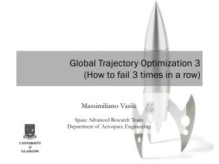 Global Trajectory Optimization 3 (How to fail 3 times in a row)