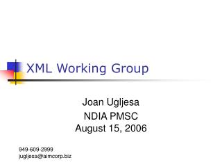 XML Working Group